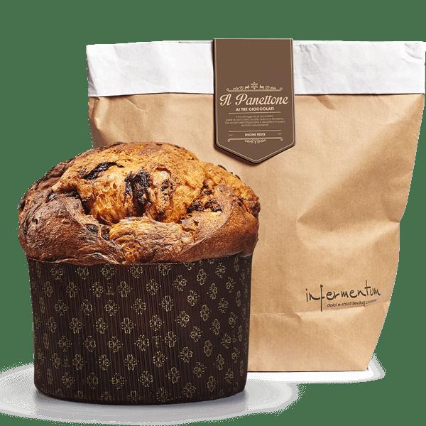 Il Panettone ai tre Cioccolati